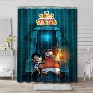 Victor and Valentino Waterproof Bathroom Shower Curtain