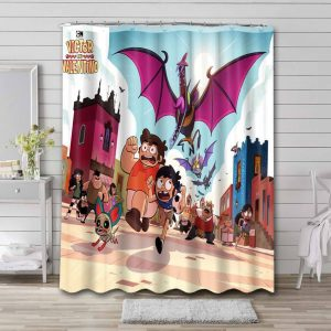 Victor and Valentino Shower Curtain Bathroom Decoration Waterproof Polyester Fabric.
