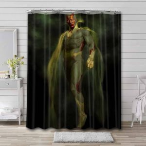 Vision Shower Curtain Bathroom Decoration Waterproof Polyester Fabric.
