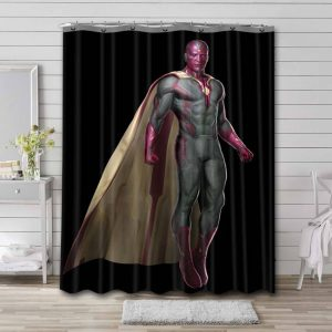 Vision Avengers Shower Curtain Waterproof Polyester