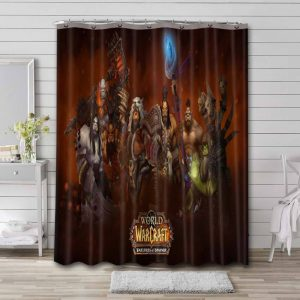 World of Warcraft Warlords of Draenor Shower Curtain Waterproof Polyester