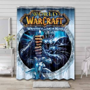 World of Warcraft Wrath of the Lich King Bathroom Shower Curtain Waterproof