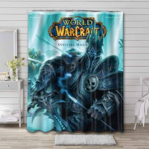 World of Warcraft Wrath of the Lich King Waterproof Shower Curtain Bathroom