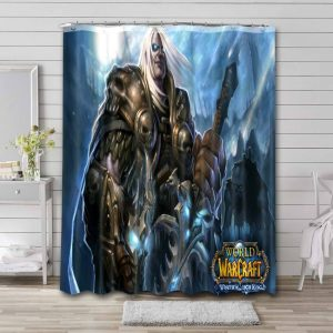 World of Warcraft Wrath of the Lich King Waterproof Bathroom Shower Curtain