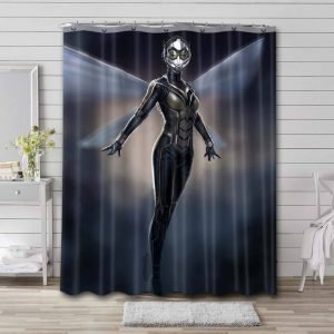Wasp Shower Curtain Bathroom Decoration Waterproof Polyester Fabric.