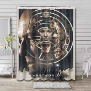 Westworld TV Series Shower Curtain Waterproof Polyester Fabric