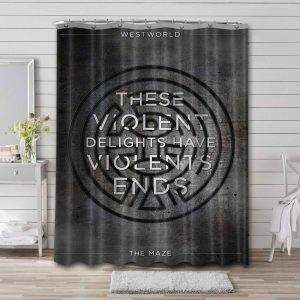 Westworld Shower Curtain Waterproof Polyester Fabric