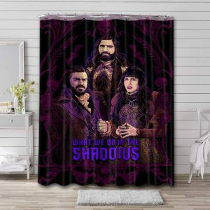 What We Do in the Shadows Characters Bathroom Curtain Shower Waterproof Fabric