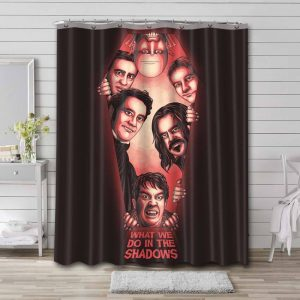 What We Do in the Shadows Shower Curtain Bathroom Waterproof