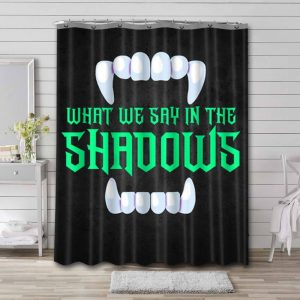 What We Do in the Shadows Bathroom Curtain Shower Waterproof Fabric