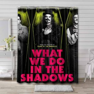 What We Do in the Shadows Characters Shower Curtain Bathroom Waterproof