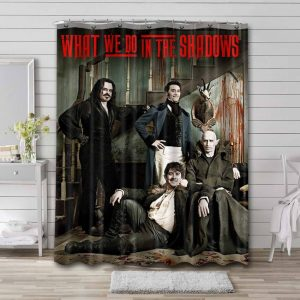 What We Do in the Shadows Characters Shower Curtain Waterproof Polyester Fabric