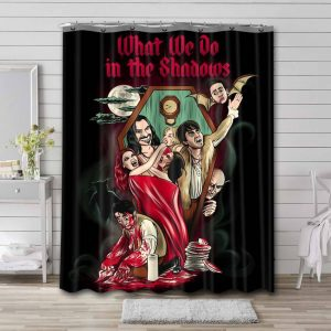 What We Do in the Shadows Characters Bathroom Shower Curtain Waterproof