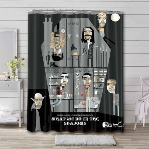 What We Do in the Shadows Series Waterproof Bathroom Shower Curtain