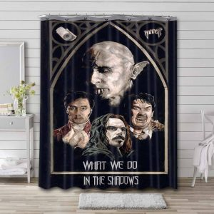What We Do in the Shadows Series Bathroom Curtain Shower Waterproof Fabric