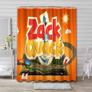 Zack & Quack Poster Shower Curtain Waterproof Polyester