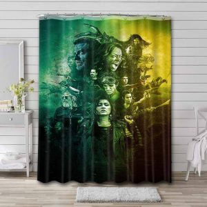 Z Nation Shower Curtain Waterproof Polyester Fabric