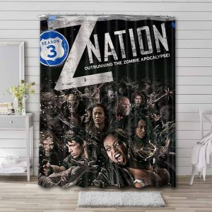 Z Nation Characters Shower Curtain Waterproof Polyester Fabric