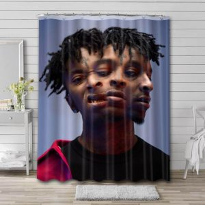 21 Savage Shower Curtain Waterproof Polyester Fabric