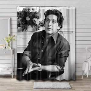 Al Pacino Young Shower Curtain Waterproof Polyester Fabric