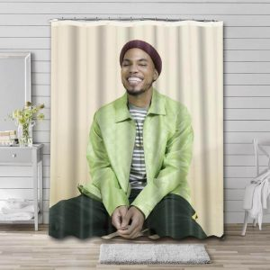 Anderson .Paak Shower Curtain Waterproof Polyester Fabric