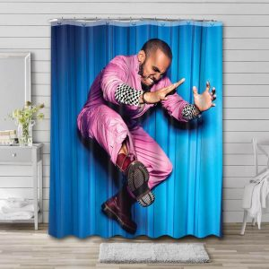 Anderson .Paak Rapper Shower Curtain Waterproof Polyester Fabric