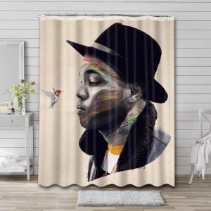 Anderson .Paak Photo Shower Curtain Waterproof Polyester Fabric