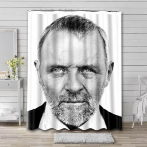 Anthony Hopkins Actor Bathroom Shower Curtain Waterproof Polyester