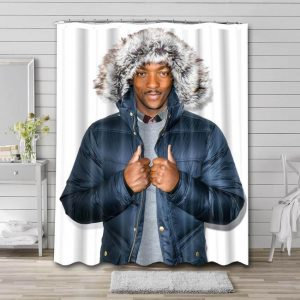 Anthony Mackie Shower Curtain Waterproof Polyester Fabric