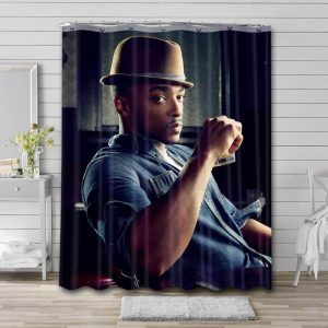 Anthony Mackie Hollywood Bathroom Shower Curtain Waterproof Polyester