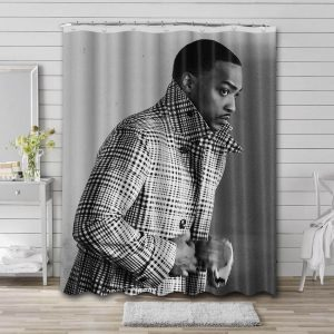 Anthony Mackie Actor Shower Curtain Waterproof Polyester Fabric