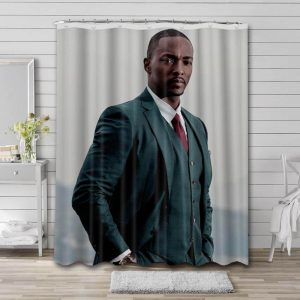 Anthony Mackie Actor Bathroom Shower Curtain Waterproof Polyester