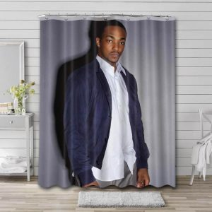 Anthony Mackie Shower Curtain Bathroom Decoration Waterproof Polyester Fabric.