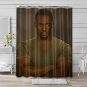 Anthony Mackie Hollywood Shower Curtain Waterproof Polyester Fabric