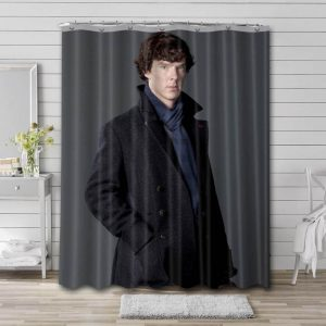 Benedict Cumberbatch Hollywood Actor Shower Curtain Waterproof Polyester Fabric