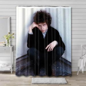 Bob Dylan Shower Curtain Waterproof Polyester Fabric