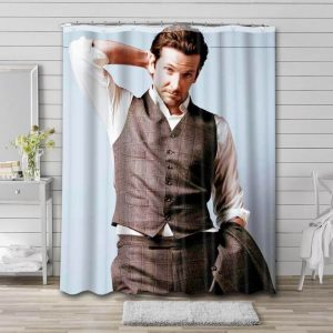 Bradley Cooper Actor Shower Curtain Waterproof Polyester Fabric