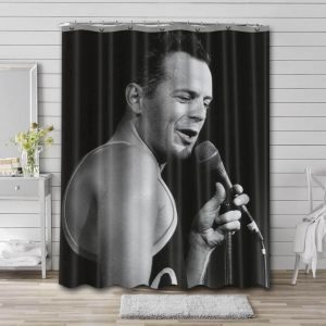 Bruce Willis Shower Curtain Waterproof Polyester Fabric