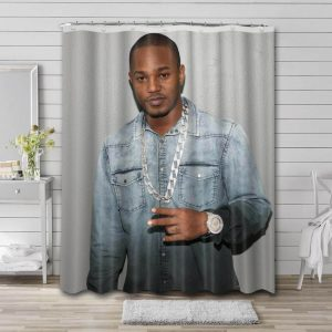 Cam'ron Shower Curtain Bathroom Decoration Waterproof Polyester Fabric.