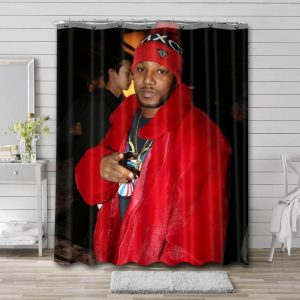 Cam'ron Photo Bathroom Shower Curtain Waterproof Polyester