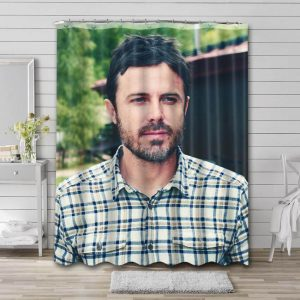 Casey Affleck Shower Curtain Waterproof Polyester Fabric