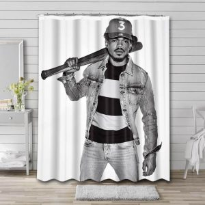 Chance the Rapper Shower Curtain Waterproof Polyester Fabric