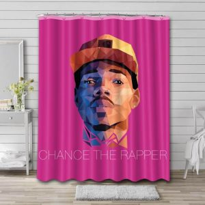 Chance the Rapper Singer Bathroom Shower Curtain Waterproof Polyester