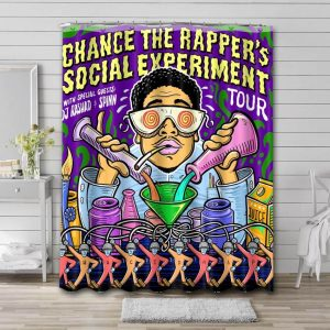 Chance the Rapper Social Experiment Shower Curtain Waterproof Polyester Fabric