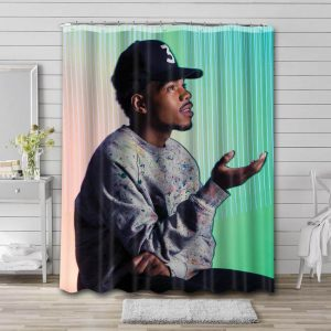 Chance the Rapper Shower Curtain Bathroom Decoration Waterproof Polyester Fabric.