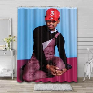 Chance the Rapper Photo Shower Curtain Waterproof Polyester Fabric