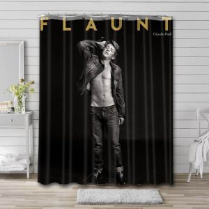 Charlie Puth Shower Curtain Waterproof Polyester Fabric