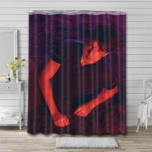Charlie Puth Singer Shower Curtain Waterproof Polyester Fabric