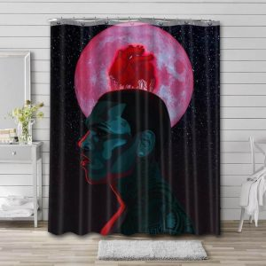 Chris Brown Shower Curtain Waterproof Polyester Fabric