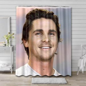 Christian Bale Movies Bathroom Shower Curtain Waterproof Polyester